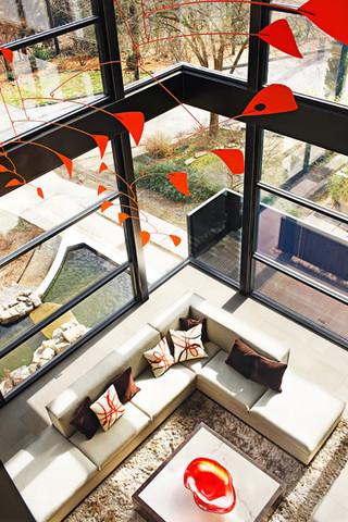 英伦风格一层别墅时尚室内2014客厅吊顶改造