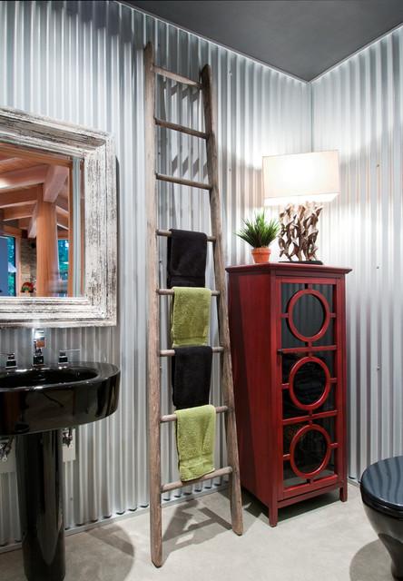 现代loft风格复式公寓奢华家具4m卫生间效果图
