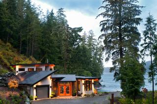 现代loft风格复式别墅现代奢华家庭庭院设计