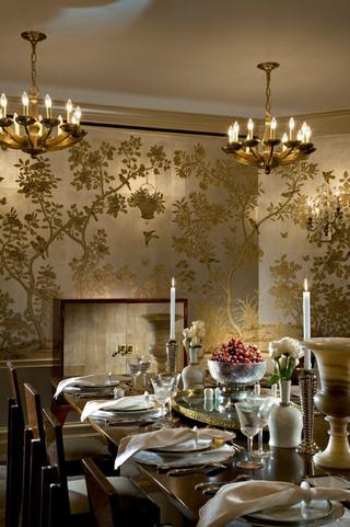 新古典风格卧室三层连体别墅古典风格红木家具餐桌图片