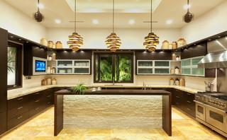 现代东南亚风格2013别墅唯美2013整体厨房设计图