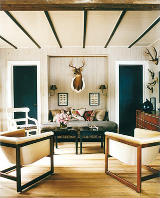 美式乡村风格卧室一层半小别墅乐活效果图