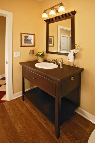 欧式风格客厅一层别墅及低调奢华卫生间台盆图片
