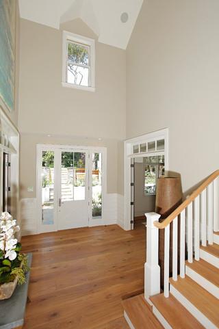 美式风格卧室三层独栋别墅简单温馨室内装修楼梯设计图
