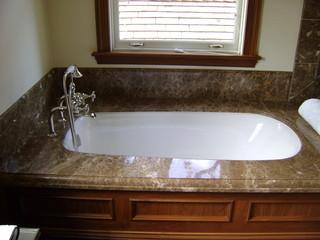 美式风格卧室一层半小别墅大气浴缸龙头效果图