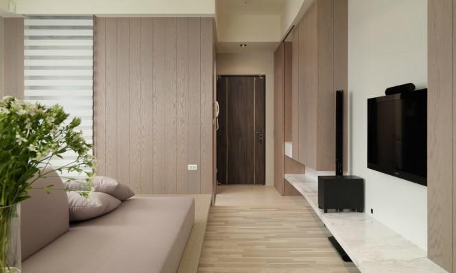 台湾线条化简约一室公寓