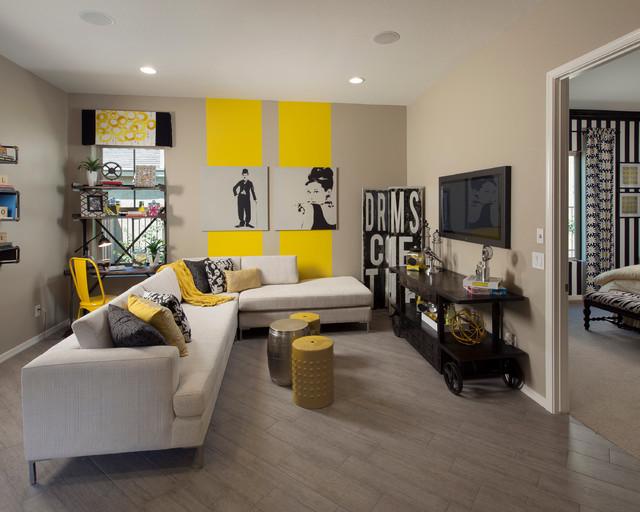 北欧风格卧室三层连体别墅浪漫婚房布置卡座沙发效果图