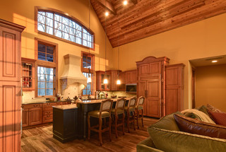 现代简约风格餐厅三层别墅现代简洁家居吧台装修效果图