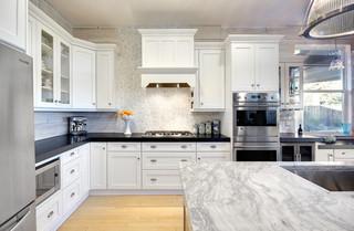 现代简约风格厨房三层双拼别墅简单实用家庭过道装修效果图