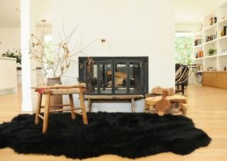 混搭风格200平米别墅小清新白色地毯图片
