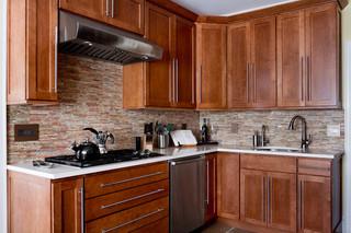 现代简约风格厨房小户型公寓阳台实用4平米厨房装潢