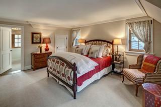 欧式风格一层半别墅唯美中式实木床效果图
