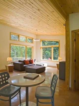 现代简约风格厨房一层半别墅另类卧室快餐桌图片
