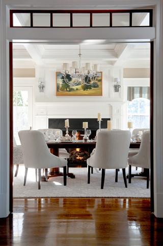 欧式风格老年公寓简单温馨餐桌桌布效果图