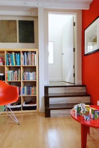 现代简约风格卫生间2013别墅浪漫婚房布置装修书架效果图