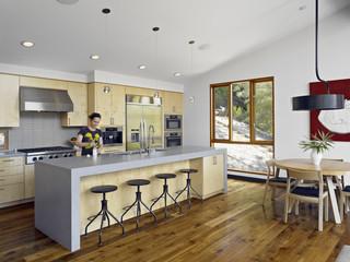 现代简约风格卧室300平别墅小清新快餐桌图片