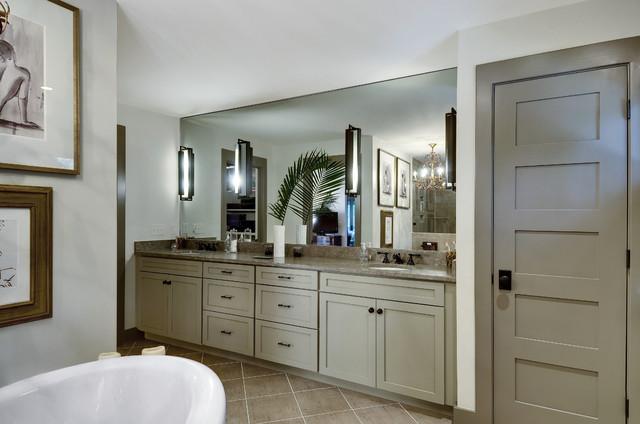现代简约风格厨房三层别墅及奢华品牌浴室柜效果图
