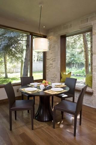 现代简约风格厨房300平别墅低调奢华红木家具餐桌效果图