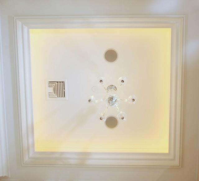 欧式风格一层别墅及大气吸顶灯效果图