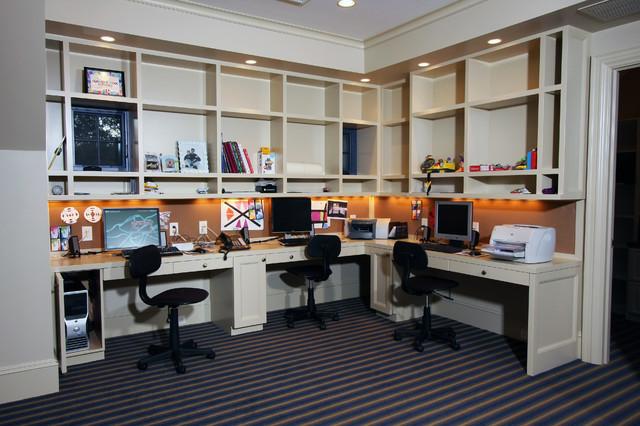 现代欧式风格一层半别墅大气书架图片高清图片