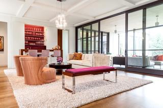 现代简约风格一层半小别墅奢华懒人沙发效果图