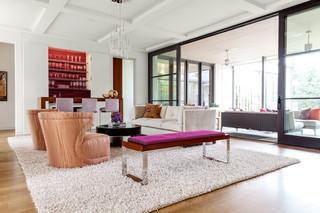 现代简约风格3层别墅欧式奢华懒人沙发效果图