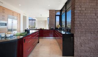 现代简约风格餐厅简洁小户型开放式厨房过道装饰装修效果图