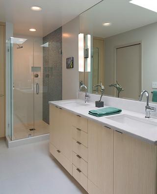 客厅简洁半开放式厨房品牌浴室柜效果图