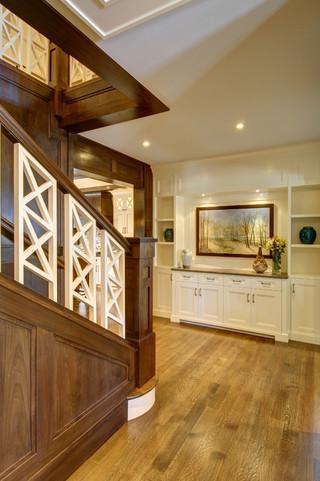 复式公寓现代奢华室内阁楼楼梯效果图