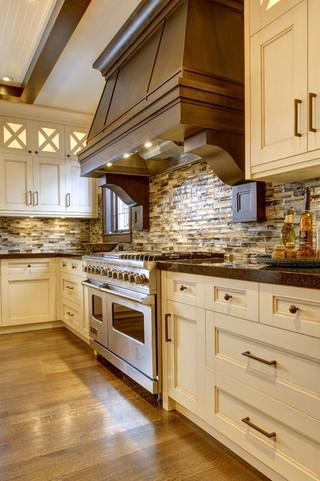 小型公寓现代奢华开放式厨房餐厅设计图