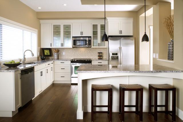 厨房吧台装修效果图 舒适开放式厨房开放式厨房吧台吸顶灯图片