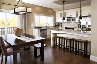 舒适欧式开放式厨房快餐桌图片