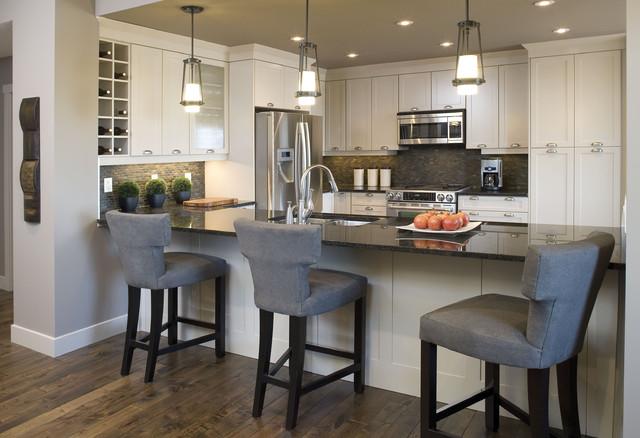 阳台实用冷色调小户型开放式厨房开放式厨房吧台设计图图片