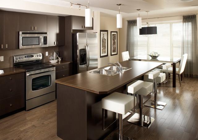 奢华家具咖啡色小户型开放式厨房厨房吧台装修图片