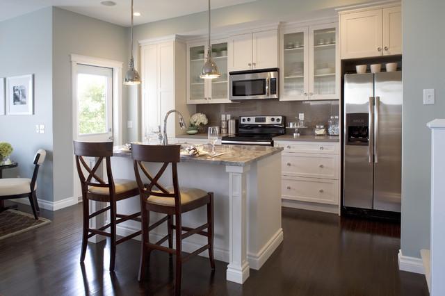 稳重欧式开放式厨房厨房吧台橱柜效果图高清图片
