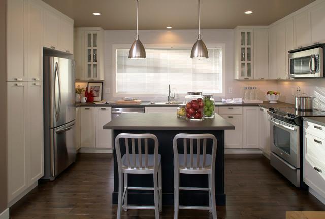 舒适开放式厨房开放式厨房吧台吸顶灯图片