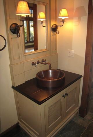 新古典风格卧室300平别墅大气卫生间台盆效果图