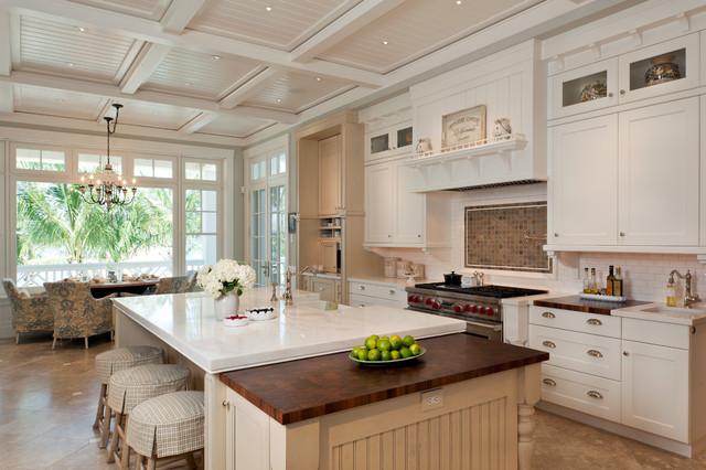 舒适白色简欧风格欧式开放式厨房橱柜定制图片