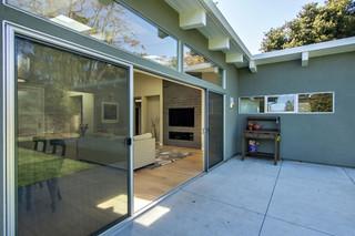 美式田园风格四房以上简洁卧室厨房带阳台设计图纸