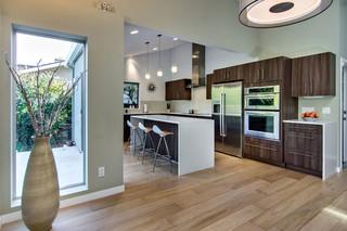 美式田园风格四房以上客厅简洁欧式过道吊顶设计图