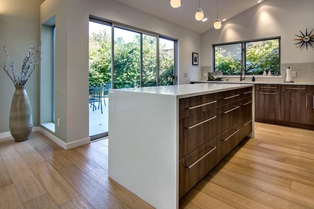 美式田园风格四房以上客厅简洁厨房地板图片高清图片