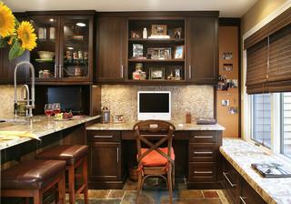大户型客厅奢华家具开放式厨房餐厅品牌书柜效果图