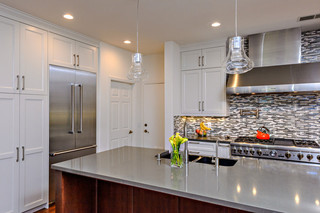 欧式简约风格白领公寓时尚简约开放式厨房餐厅装修效果图