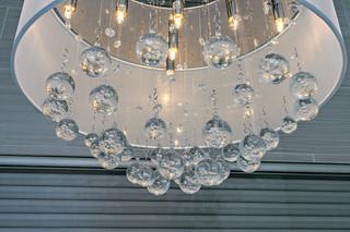 中式简约风格白领公寓时尚客厅客厅水晶灯图片