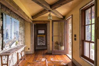 古典客厅原木色家居室内走廊设计图纸