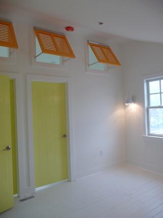 混搭风格客厅海边别墅时尚家具装修木门效果图