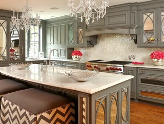 新古典风格客厅奢华6平米厨房最新水晶灯图片