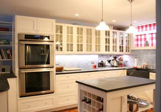 美式乡村风格卧室单身公寓厨房温馨装饰雷士吸顶灯图片
