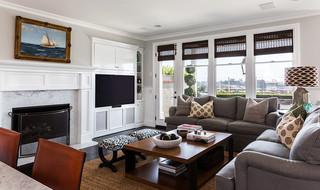 单身公寓白色门2013客厅效果图