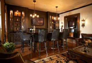 单身公寓厨房现代奢华咖啡色装修效果图